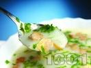 Рецепта Крем супа от картофи с мляко и сметана